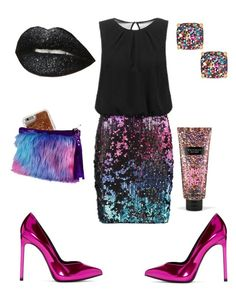 """#flitters #fireworks"" by sanikova on Polyvore featuring Laona, Yves Saint Laurent, Agent 18, Kate Spade and Victoria's Secret"