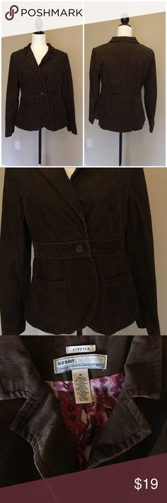 OLD NAVY Brown Maternity Blazer Gorgeous - like new - brown maternity corduroy Blazer! Perfect to dress up or down! Features a beautiful lining! Bundle and save with other maternity items in my closet! Old Navy Jackets & Coats Blazers