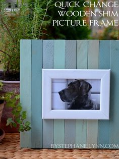 Make Your Own Quick Change Wooden Shim Picture Frame - bystephanielynn (see DIY board for the version without paint)