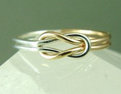Infinity Ring / Promise Ring / Infinity Knot  / Best Friend Ring / Love Knot Ring / Sisters Ring / Mother Daughter Ring. $32.00, via Etsy.