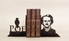 Edgar Allan Poe Bookends