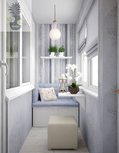 Stylish design ideas of balcony and loggia with photos - Best Home Design Ideas Decor, Interior, Apartment Design, Trendy Seating, Home Bar Designs, Small Balcony Decor, Home Decor, Living Room Trends, Interior Balcony