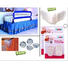 Buy Farlin Baby Safety Bed Guard With Safety Lock For Drawer