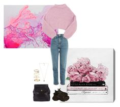 """""""Chiara in pink"""" by fashionsankofa ❤ liked on Polyvore featuring Oliver Gal Artist Co., Topshop, Lala Berlin, Balenciaga, Chanel, Michael Kors, Cartier, Maya Brenner Designs, Melissa Odabash and Ippolita"""