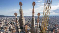 Antoni Gaudi famous cathedral in Barcelona, Spain