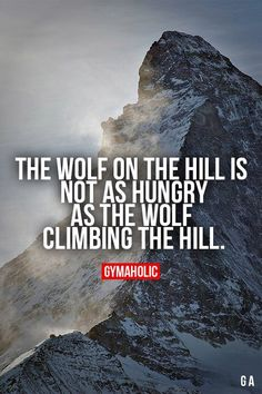 The progress is endless because you work on your self everyday. Even when you are on top of the hill you don't take days off. You keep working hard and keep progressing!