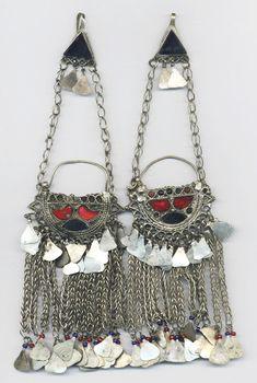 *Koochi Kuchi Afghan Pakistan tribe tribal earrings*