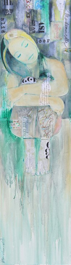 Ingeborg Herckenrath - Wait for tomorrow #art #collage #painting
