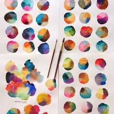 Can't stop testing color!! #watercolor #sennelier #paint #painting #art #artist…