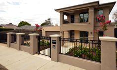 House Paint Exterior, Dream House Exterior, Exterior House Colors, Exterior Design, Home Room Design, Dream Home Design, Home Design Plans, House Fence Design, 2 Storey House Design