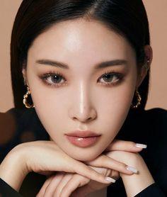 Asian Makeup Looks, Korean Eye Makeup, Makeup Inspo, Makeup Inspiration, Beauty Makeup, Korean Beauty, Asian Beauty, Kim Chungha, Watercolor Mermaid