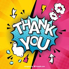 Thank you composition in comic style Free Vector Fiesta Pop Art, Bd Pop Art, Illustration Pop Art, Pop Art Party, Desenho Pop Art, Comic Art, Comic Books, Pop Art Wallpaper, Comic Styles