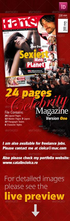 pro magazine layouts with circle element