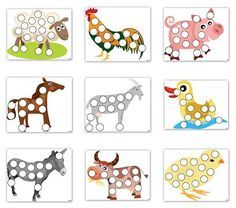 Image result for farm theme activity sheets for toddlers