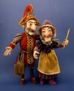 Punch and Judy is a popular, traditional puppet show. It centers on the characters of Mr. Punch and his wife, Judy. The show is often preformed by one puppeteer as all of the characters. Puppet Toys, Marionette Puppet, Puppet Show, Pinocchio, Paper Dolls, Art Dolls, Puppets For Sale, James Ensor, Punch And Judy