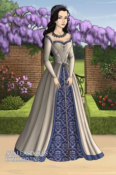 designed this on a tutor-style doll maker website. it's a wedding dress for a character in a story i wrote in high school lol Doll Divine, Royal Dresses, Fairytale Art, Anime Outfits, Costumes, Costume Ideas, Ball Gowns, Aurora Sleeping Beauty, Dress Up