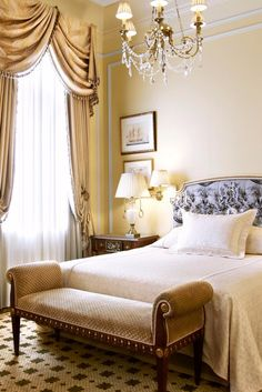 Grand Bretagne's rooms feel stately, with silk swag drapes and crystal chandeliers. Hotel Grande Bretagne, a Luxury Collection Hotel, Athens (Athens, Greece) - Jetsetter
