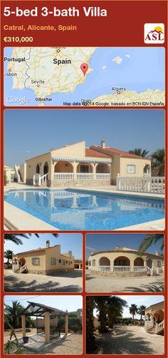 5-bed 3-bath Villa in Catral, Alicante, Spain ►€310,000 #PropertyForSaleInSpain