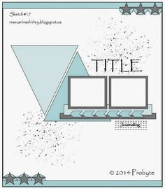 Sketch with triangles Scrapbook Patterns, Scrapbook Layout Sketches, Scrapbook Templates, Scrapbook Designs, Scrapbooking Layouts, Scrapbook Cards, Picture Scrapbook, Scrapbook Albums, Photo Sketch