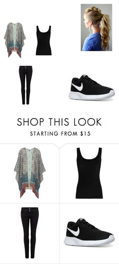 """""""Morning Outfit"""" by jasmin192 ❤ liked on Polyvore featuring Twenty, Paige Denim and NIKE"""