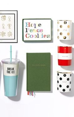 so many cute Kate Spade items, love the 'penny for your thoughts' journal #KateSpade http://rstyle.me/n/jaj95r9te