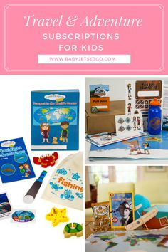 Here's our top picks for travel and adventure subscription for kids. Subscriptions For Kids, Philippines Travel, Field Guide, Jet Set, Pop Tarts, Adventure Travel, Baby Kids, Top, Spinning Top