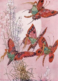 The Fairy Folk - Illustration by Willy Pogany - 1912 Vintage Fairies, Vintage Art, Fantasy Kunst, Fantasy Art, Butterfly Fairy, Art Et Illustration, Book Illustrations, Flower Fairies, Fairy Art
