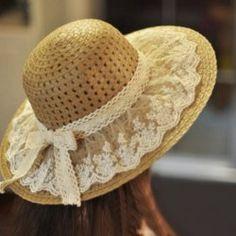 Lace Summer Sun Hats For Women New Fashion Sombreros Wide Brim Beach Side Cap Floppy Female Straw Hat Chapeu de Praia Tea Hats, Tea Party Hats, Wide Brim Sun Hat, Sun Hats For Women, Women Hats, Hat Crafts, Decor Crafts, Hat For Man, Fancy Hats