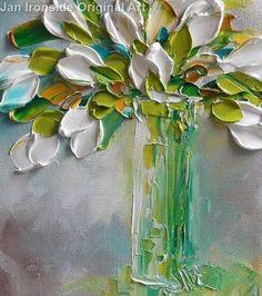 Oil Painting Tulips Impasto Painting Original Artwork