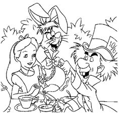 Alice in wonderland mad hatter coloring page Coloring Pages For