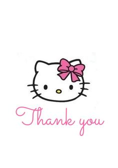hello kitty birthday party, crafts, mason jars, Hello Kitty Thank you Tags