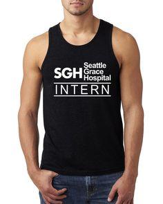 SGH intern Tank Top #SGHintern #intern #seattlegracehospital #SGH #tv