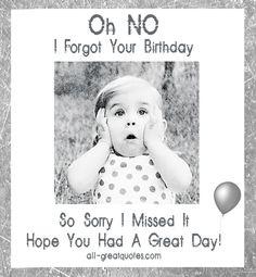 Happy Belated Birthday | Free Birthday Cards