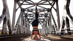 Emma, Headstand with Eagle Legs, from our Pose Contest!