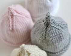 SIMPLE baby hat PREEMIE and NEWBORN knitting by rocketclothing