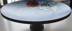 Wooden Bowl with Poppy