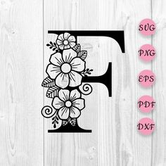 Zentangle, Fairy Drawings, Black Cat Art, Mehndi Designs For Fingers, Flower Alphabet, Letter F, Floral Letters, Motif Floral, Paisley