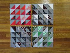 Radiating HST - Quick and Easy Christmas Quilt - Block 1