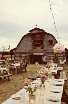 Barn Wedding! Love it!