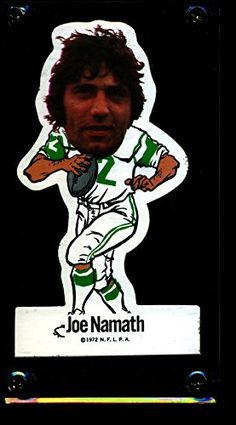 1972 N.F.L.P.A. JOE NAMATH JETS DIE CUT VINYL STICKER NM