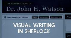 Visual Writing in Sherlock Visual Effects, Sherlock, Social Media, Writing, Words, Blog, Movies, Blogging, Social Networks