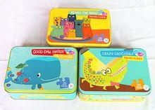 Tamanho : 180 x 130 x 40 mm cookies tin box / biscuit caixa de metal / recipiente de alimento com 3 obras de arte(China (Mainland))
