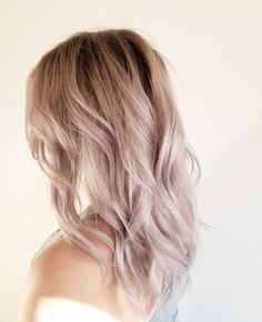 By Lavender blonde balayage Ombre waves medi . By Lavender blonde balayage Ombre waves medi. By Lavender blonde balayage Ombre waves medium hair Blond Rose, Blond Ombre, Blonde With Pink, Ombre Hair Color, Hair Color Balayage, Balayage Ombre, Blonde Rose Gold Hair, Hair Colors, Balayage Hair Blonde Medium