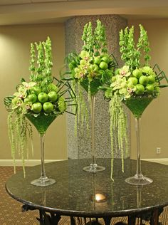 green reception wedding flowers, wedding decor, wedding flower centerpiece, wedding flower arrangement, add pic source on comment and we will update it.myfloweraffai… can create this beautiful wedding flower look.