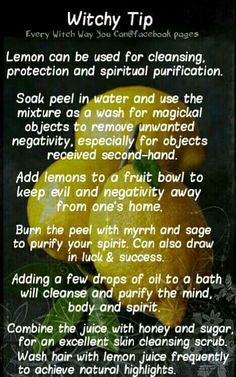 Lemons for Magickal Use