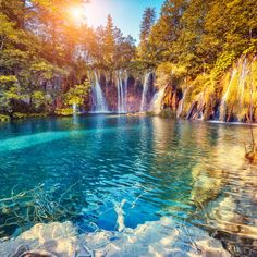 How to get from Zadar to Plitvice Lakes is a common question. Luckily, getting from Zadar to Plitvice Lakes National Park is easy in Beautiful Waterfalls, Beautiful Landscapes, Most Romantic Places, Beautiful Places, Peaceful Places, Beautiful Scenery, Romantic Vacations, Romantic Travel, Wonderful Places