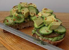 Avocado, Arugula, And Walnut Sandwiches Recipe — Dishmaps