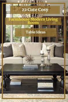 22 Cute Cosy Farmhouse Modern Living Room Table Ideas #livingroomideas Modern Living Room Table, Modern Room, Living Room Decor, Room Colors, Modern Farmhouse, Cosy, Pillows, Bed, Ideas