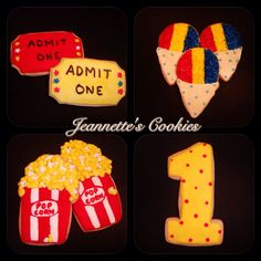 Carnival Cookies  By Jeannette's Cookies  Also follow me on Instagram to view more custom cookies