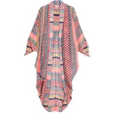 Mara Hoffman Frida Cocoon Beach Cover Up ($502) ❤ liked on Polyvore